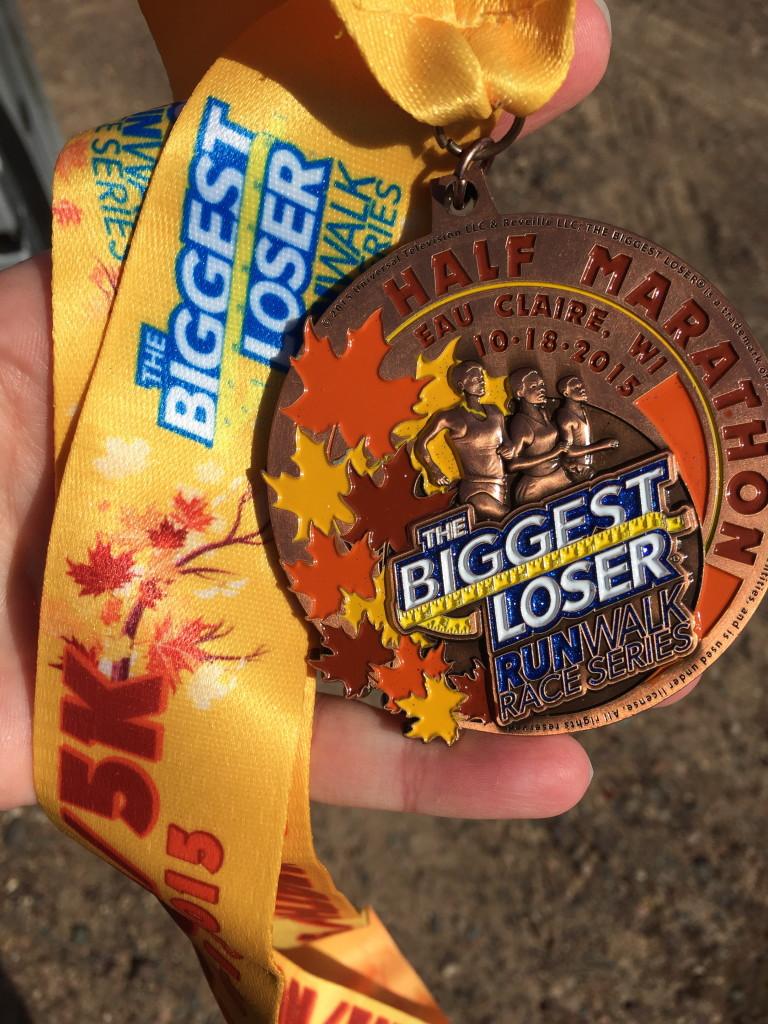 Biggest Loser half marathon medal