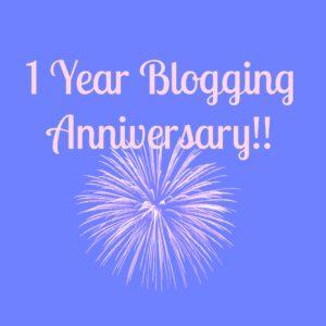 It's My 1 Year Blogging Anniversary!!