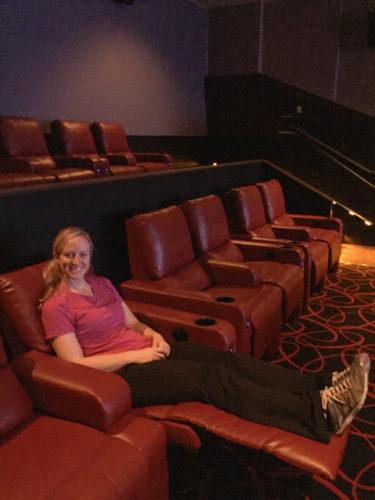 Movie theatre recliner seats