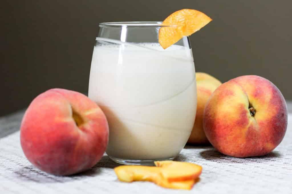 Refreshing peach smoothie