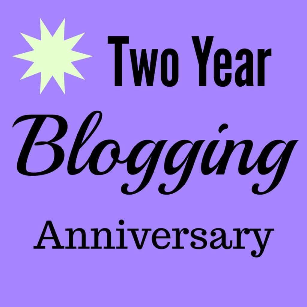 2 Year Blogging Anniversary