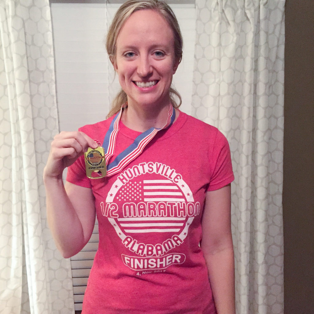 Huntsville half marathon finisher