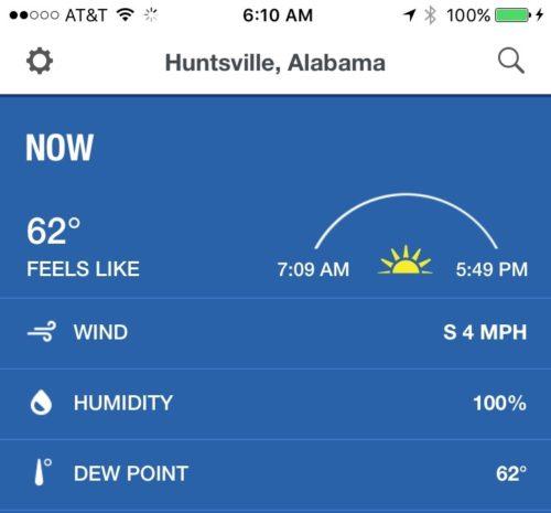 Huntsville weather